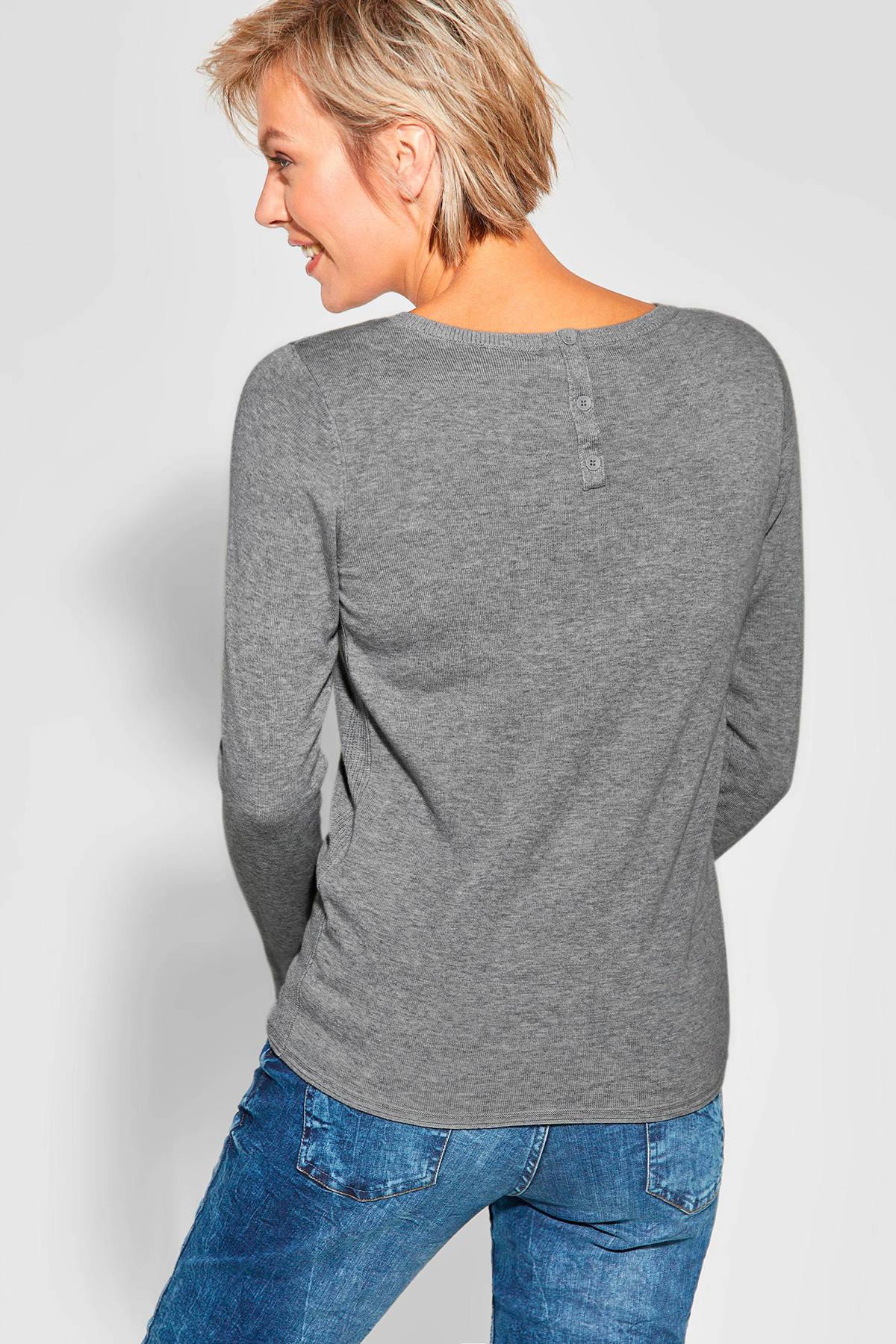 CECIL fijngebreide trui Alena grijs | wehkamp