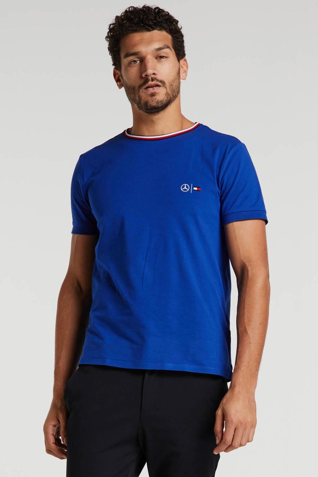 Tommy Hilfiger Tailored T-shirt met logo blauw, Blauw