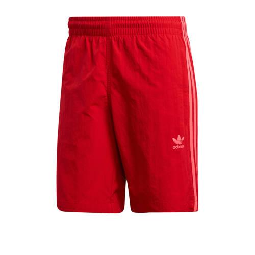adidas originals Adicolor zwemshort 3-stripes rood