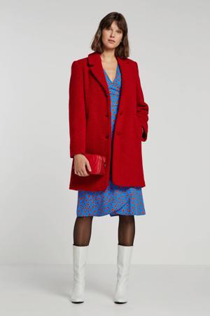 coat Jules met wol rood