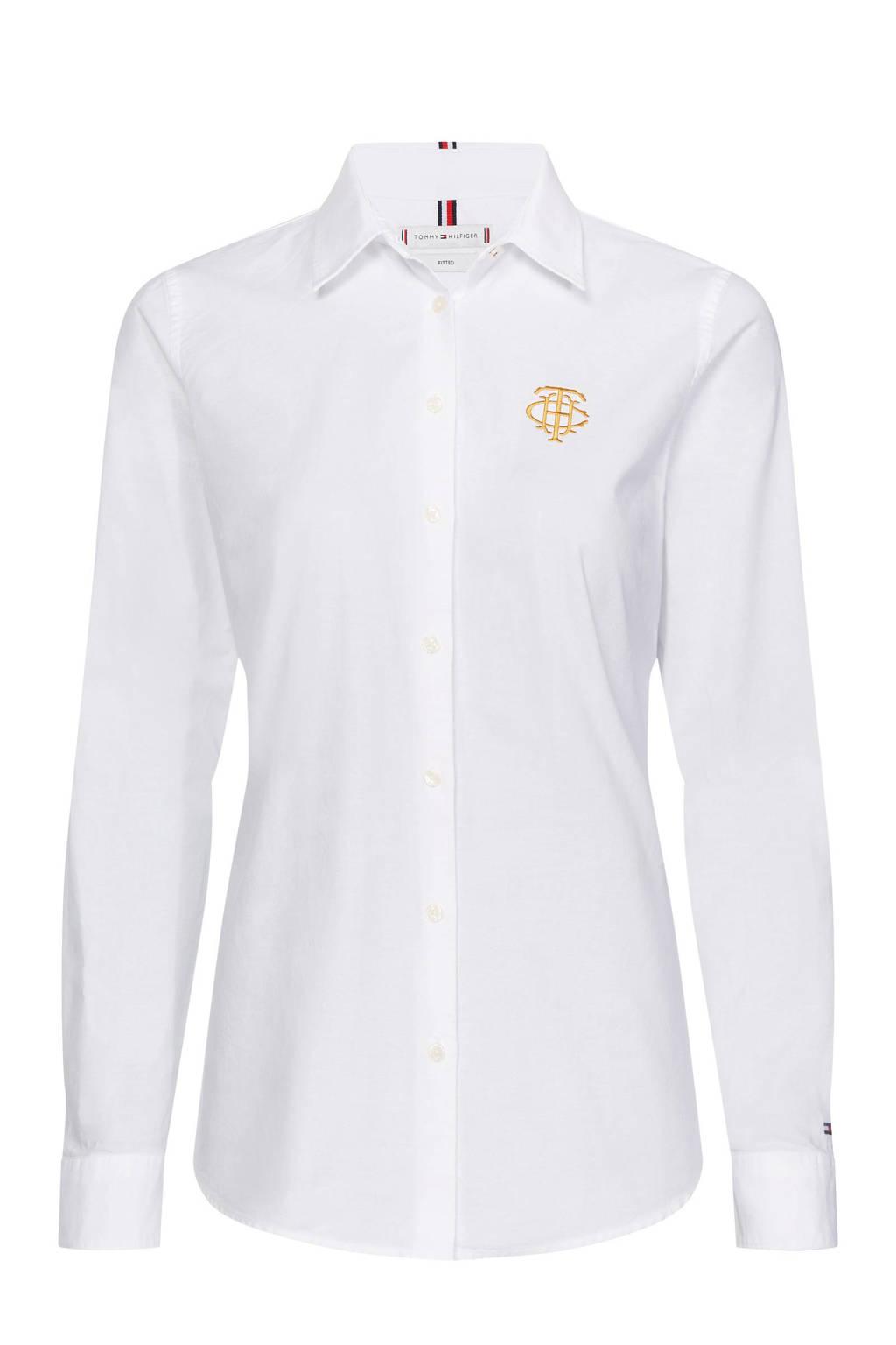 Tommy Hilfiger blouse met borduursels wit, Wit