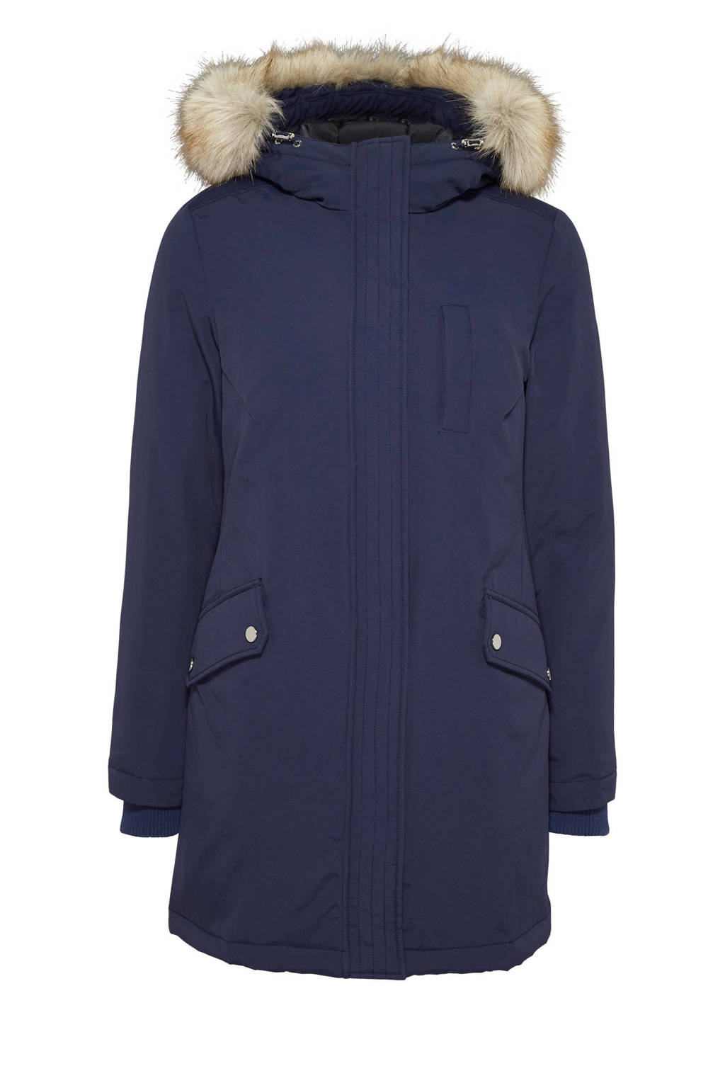 Tommy Jeans parka donkerblauw, Donkerblauw