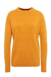 Tom Tailor fijngebreide trui met textuur geel, Geel