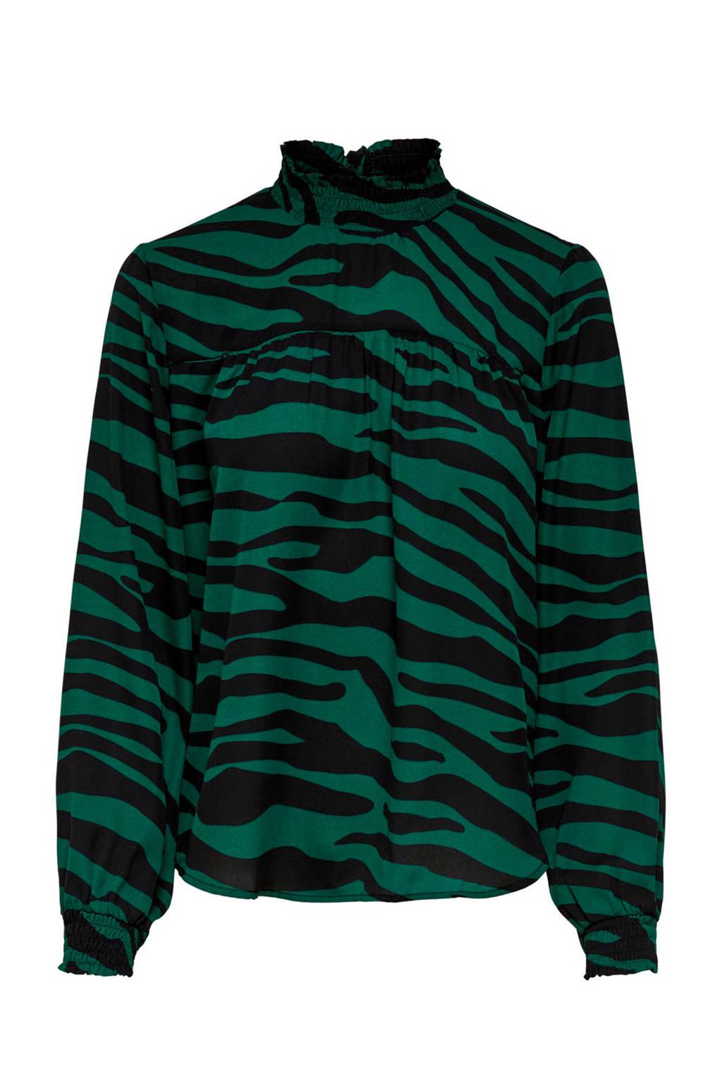 JACQUELINE DE YONG top met all over print groen, Groen
