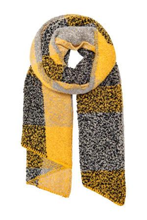 gemeléerde sjaal geel