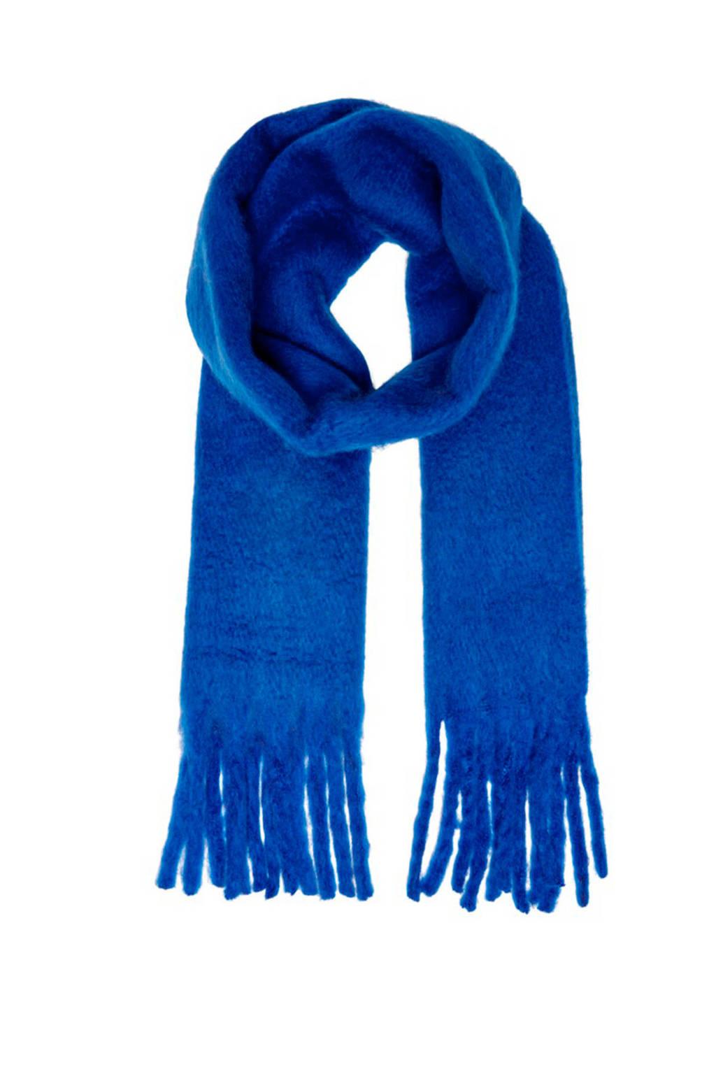 ONLY sjaal Emma blauw, Blauw