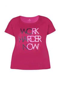 Zhenzi Sport T-shirt fuchsia, Fuchsia/roze