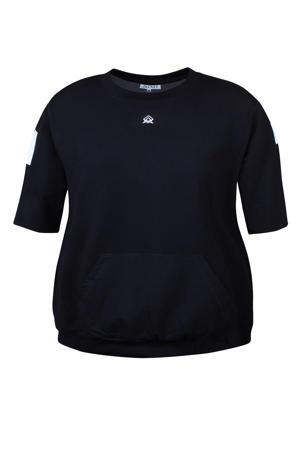 sweater korte mouw zwart