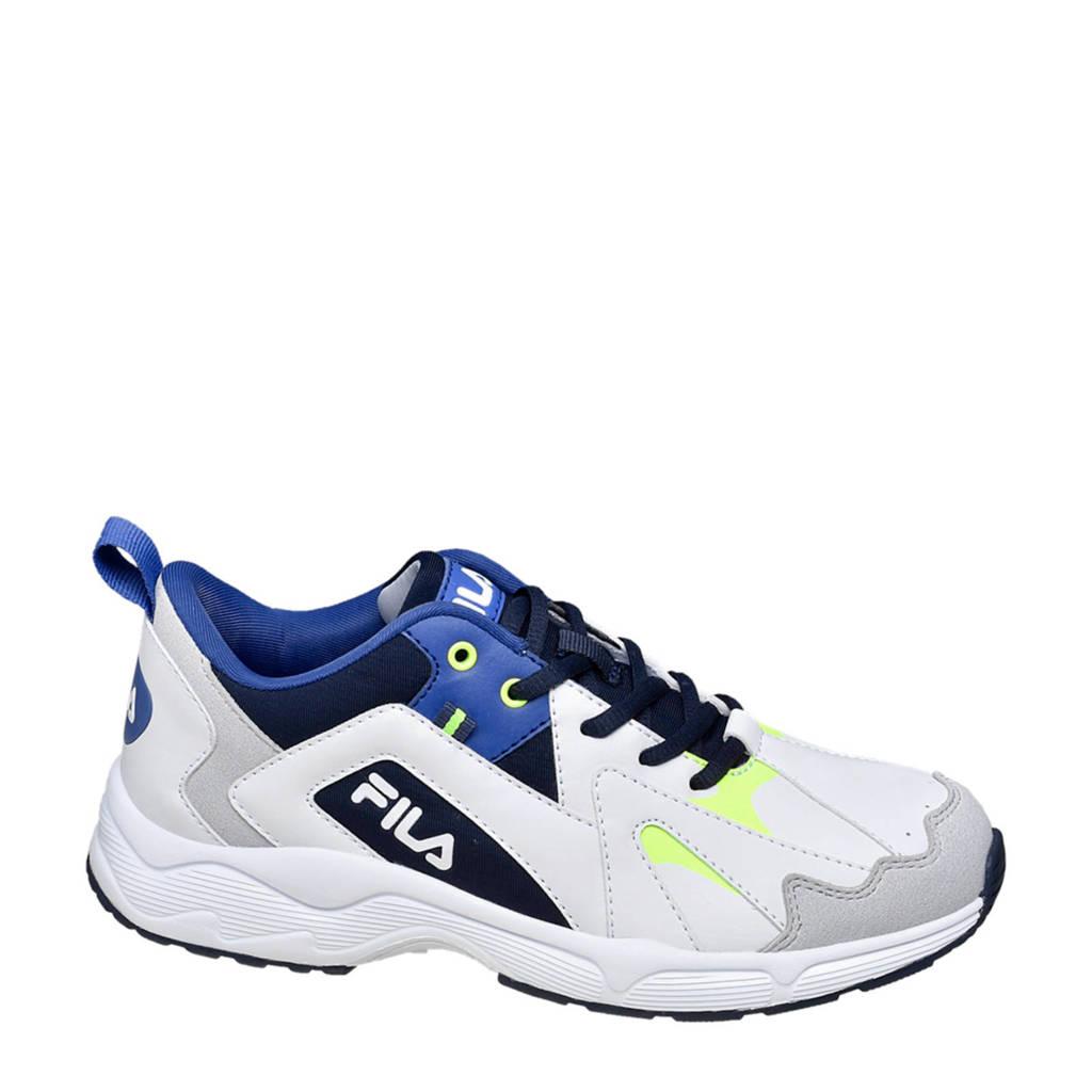 Fila   sneakers wit/blauw/geel, Wit/blauw/geel