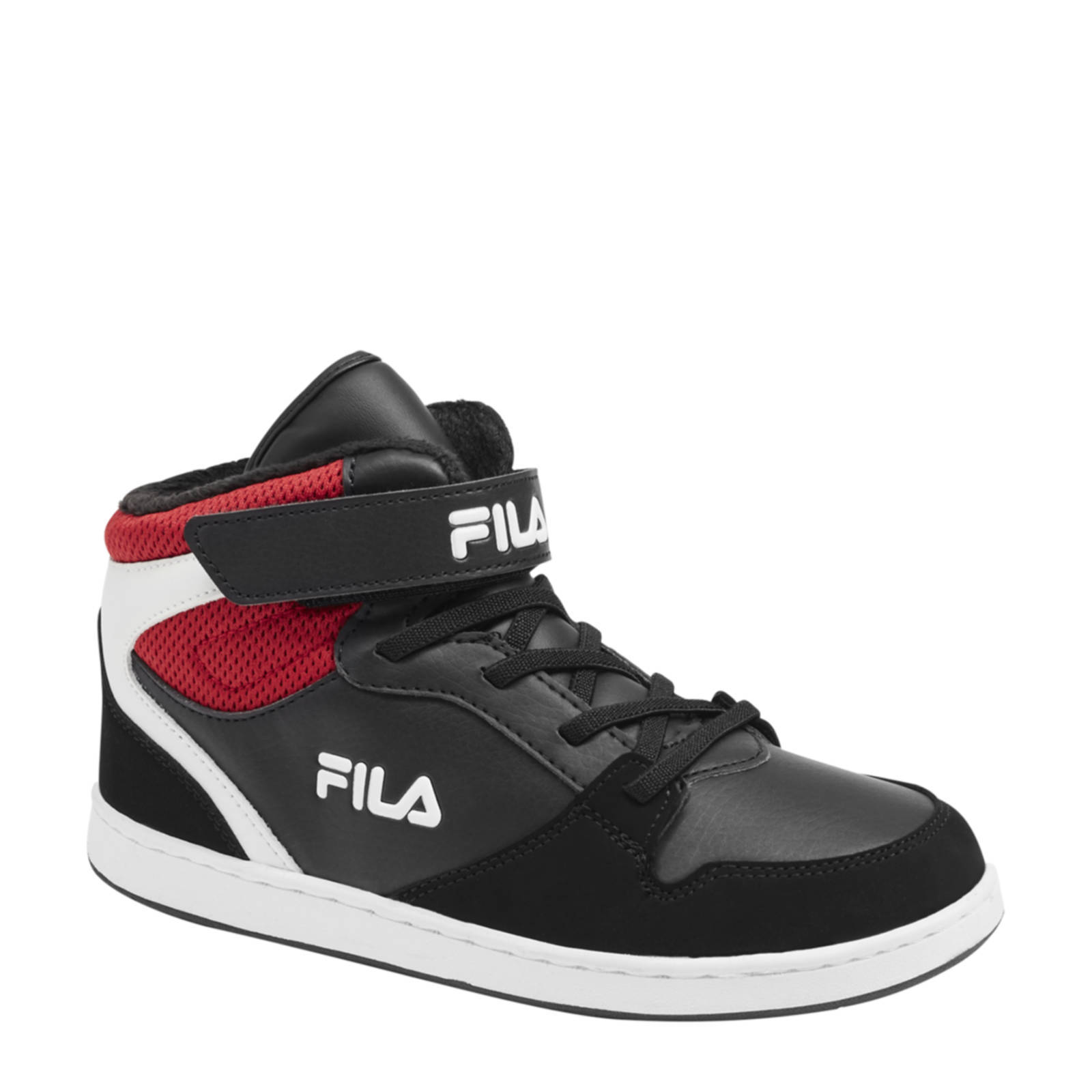 Fila hoge sneakers zwart/rood | wehkamp