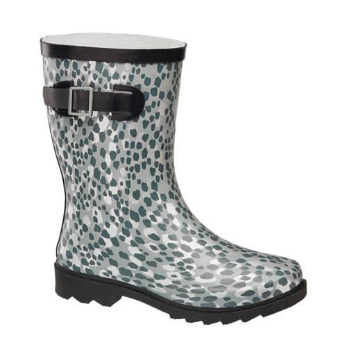 Cortina regenlaarzen panterprint grijs