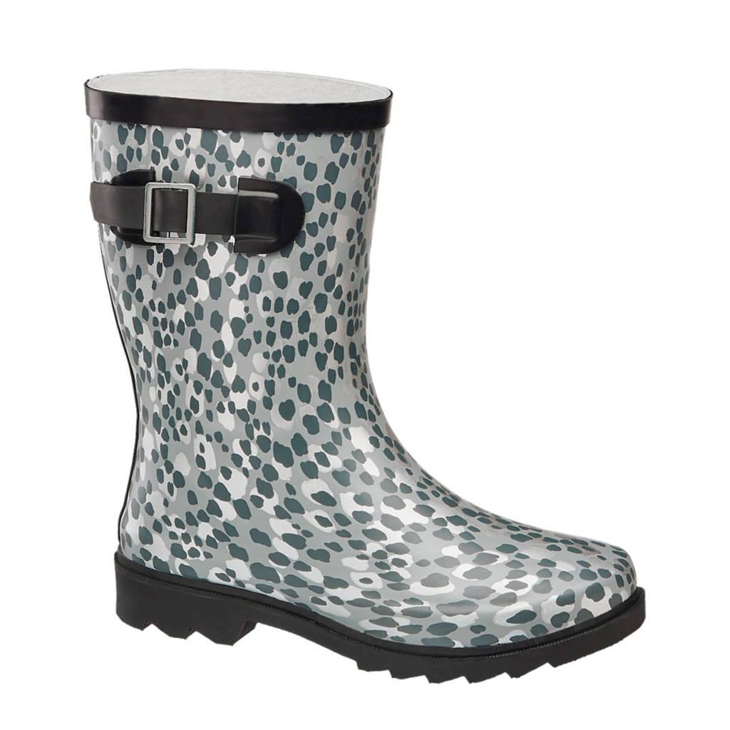Cortina regenlaarzen panterprint grijs, Grijs