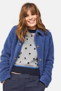 WE Fashion teddy jas blauw, Blauw