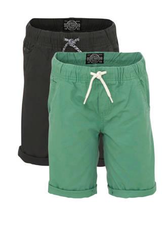 Here & There short grijs/groen - set van 2