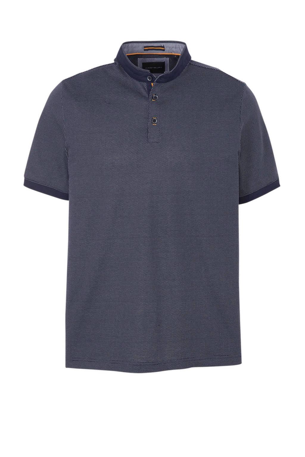 C&A Westbury T-shirt met all over print marine/ecru, Marine/ecru