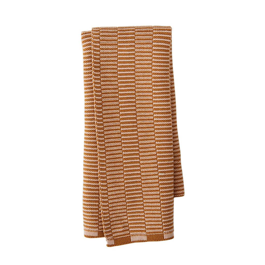 OYOY Living keukendoek (38x58 cm), Caramel bruin/roze