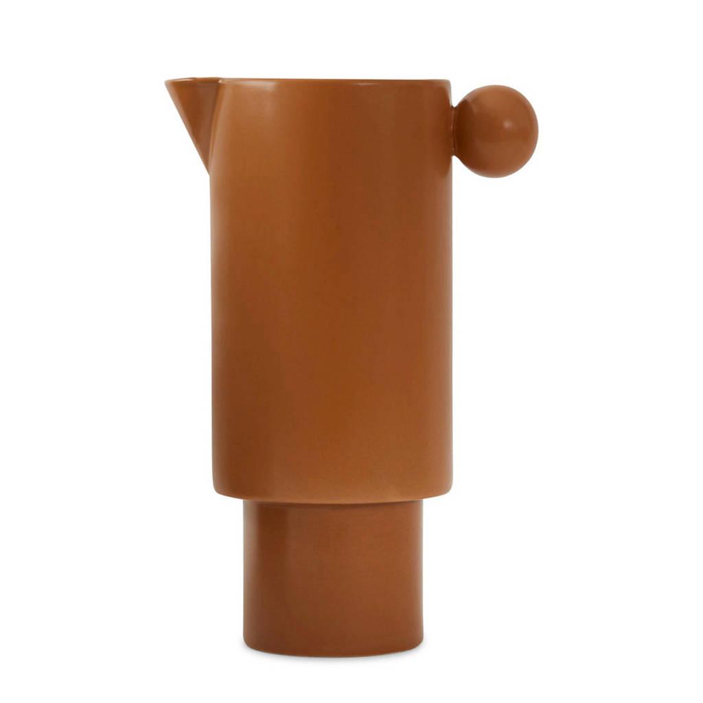 OYOY Living karaf (Ø14 cm), caramel bruin