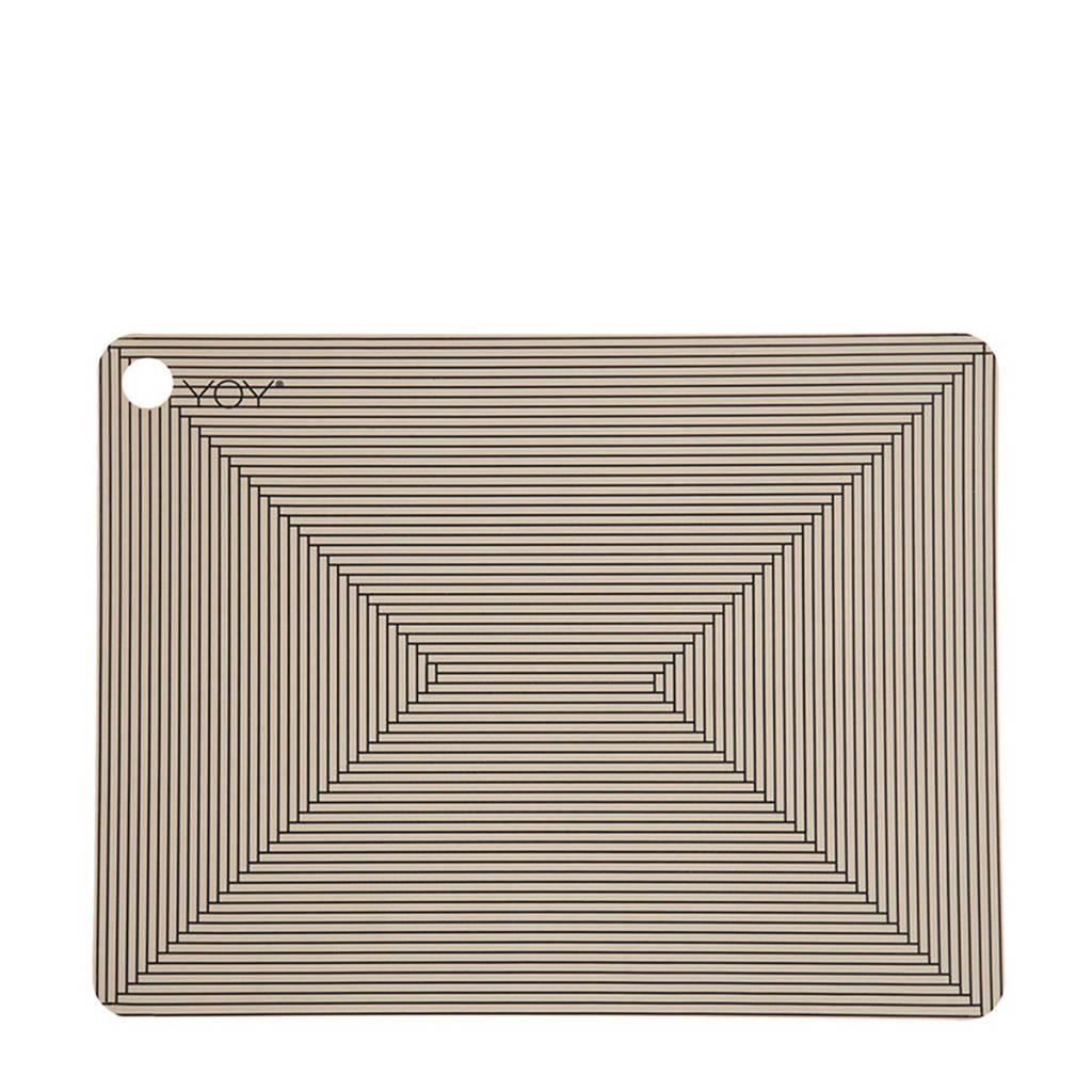 OYOY Living placemat (45x34 cm) (set van 2), Bruin/grijs