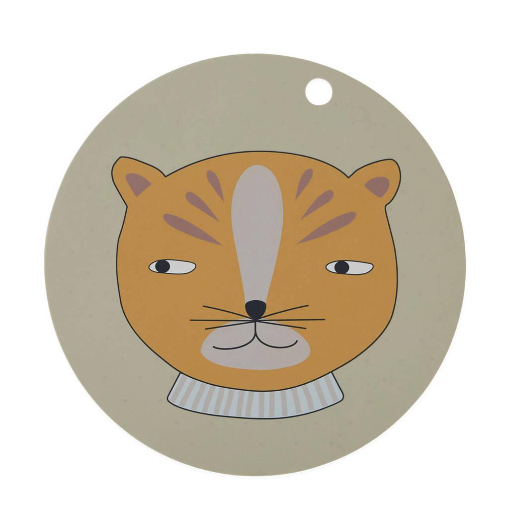 OYOY Mini placemat (Ø39 cm), Bruin/grijs