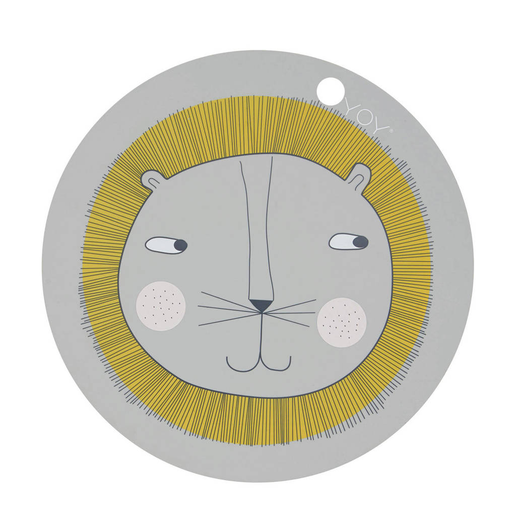 OYOY Mini placemat (Ø39 cm), Lichtgrijs