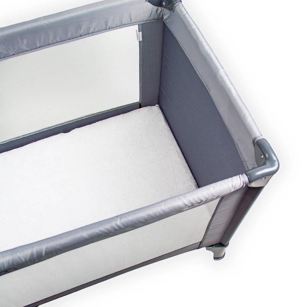 Briljant Baby katoenen campingbed matrashoes 60x120 briljant wit, Wit