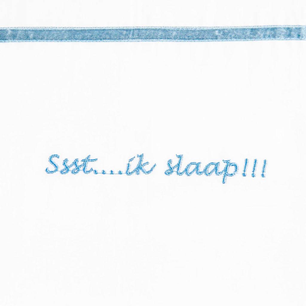 Briljant Baby ssst....ik slaap !!! ledikantlaken 100x150 cm, Grijsblauw
