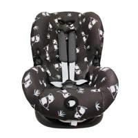 Panda Dreams autostoelhoes 1+ interlock shy panda, Zwart/wit