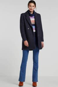 Giacomo coat met wol donkerblauw, Donkerblauw