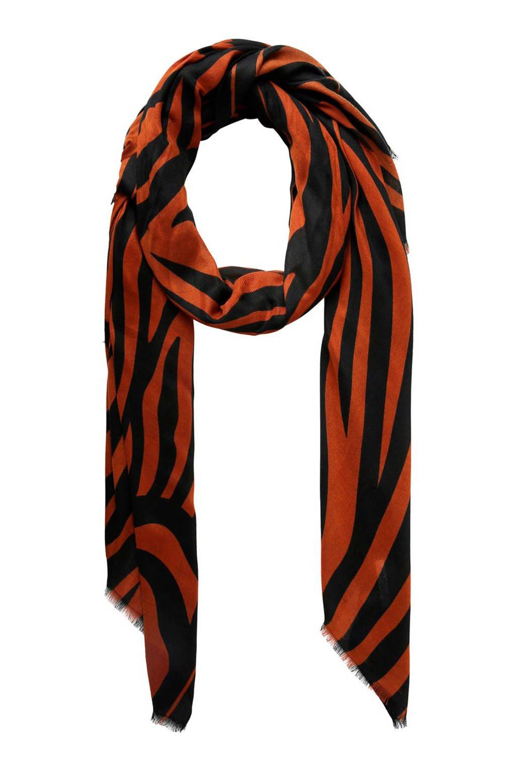 PIECES sjaal oranje, Bruin