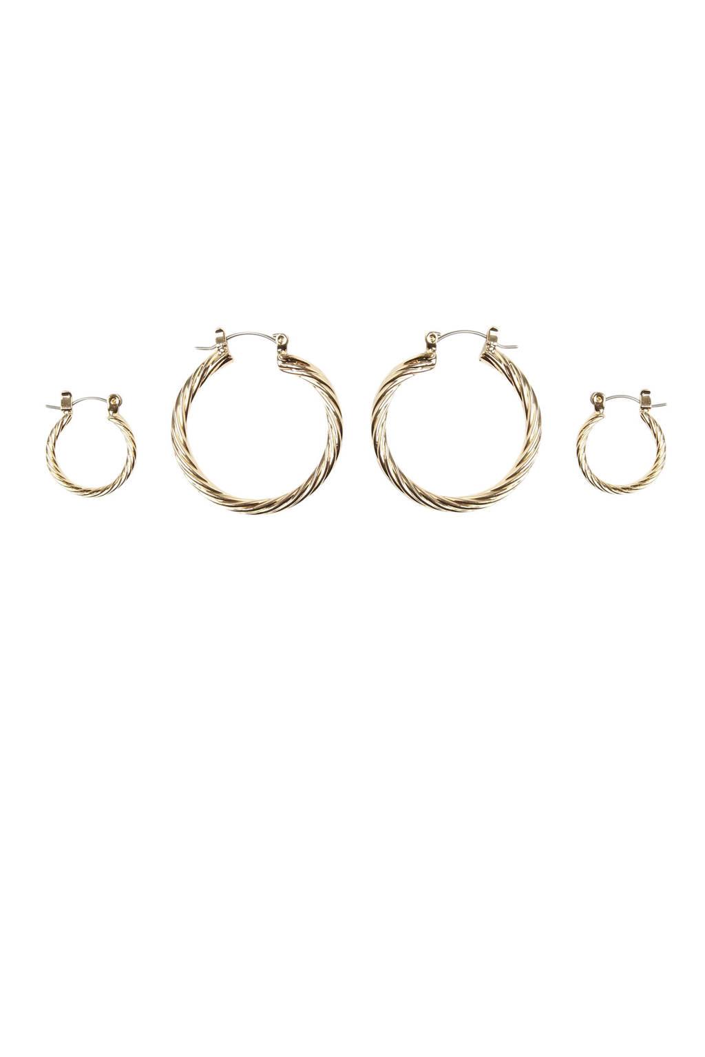 PIECES oorbellen set van 2 goud, Goud