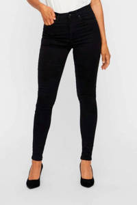 VERO MODA high waist skinny jeans VMSOPHIA black, Zwart