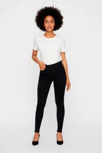 VERO MODA high waist skinny jeans zwart, Zwart