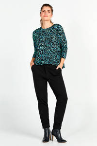 Miss Etam Regulier slim fit pantalon zwart, Zwart