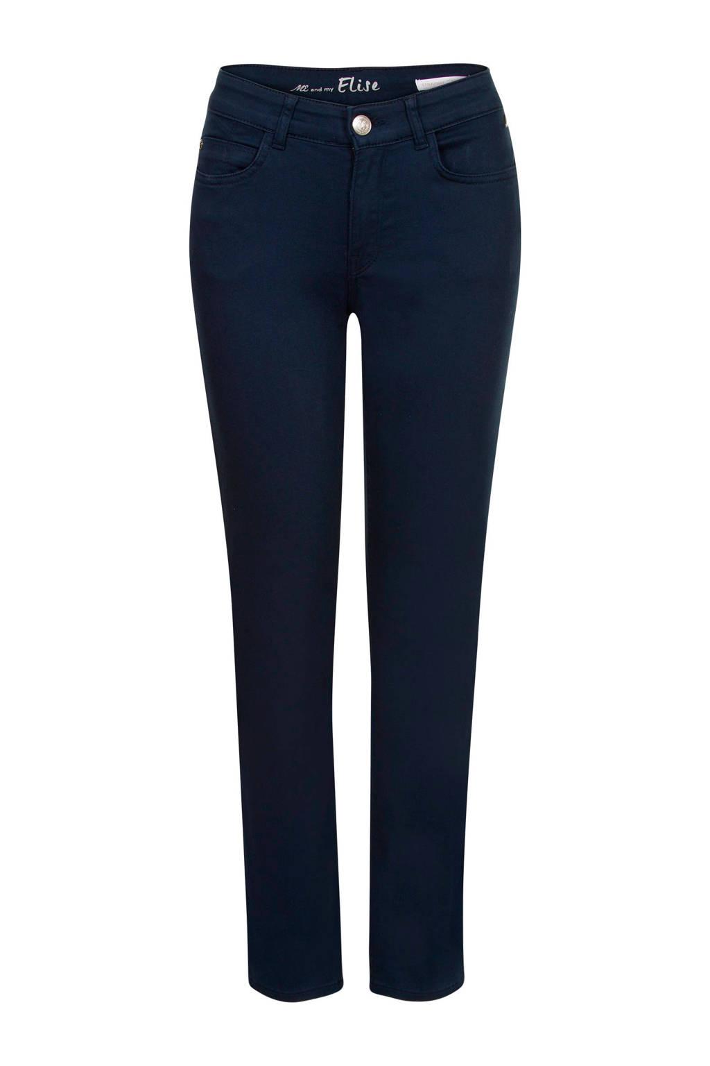 Miss Etam Regulier slim fit jeans Elise 28 inch donkerblauw, Donkerblauw