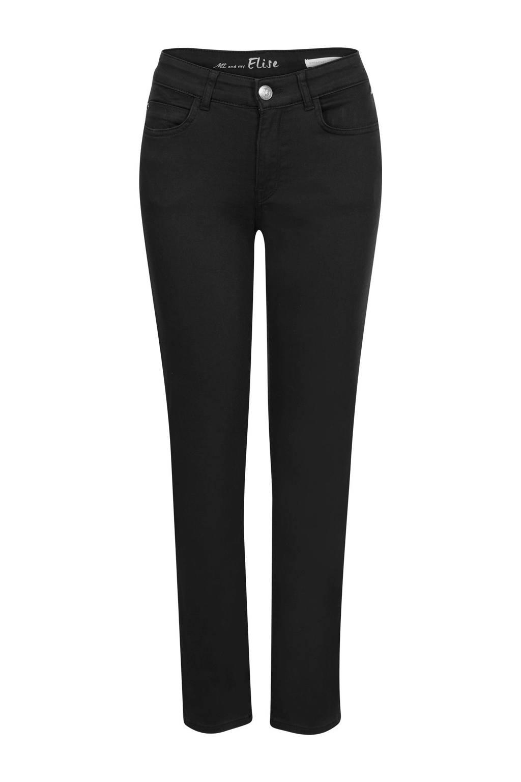 Miss Etam Regulier slim fit jeans Elise 28 inch zwart, Zwart