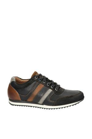 Cornwell leren sneakers zwart/bruin