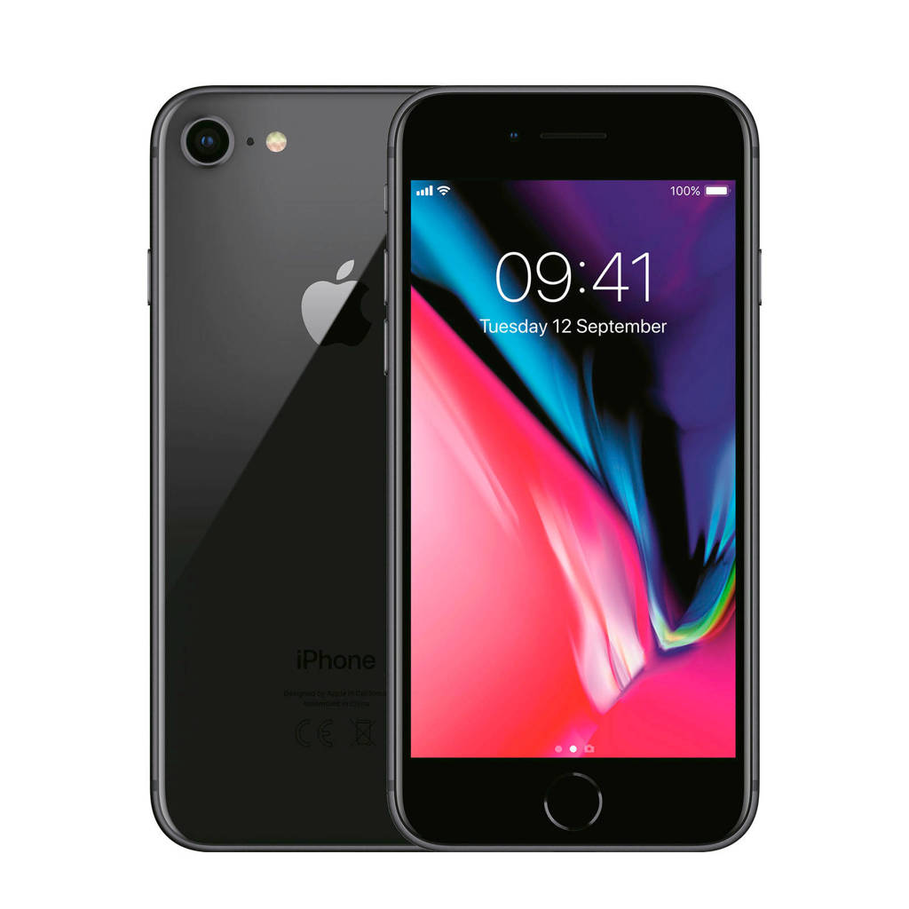 Renewd Apple iPhone 8 Space Grey - Refurbished, Grijs