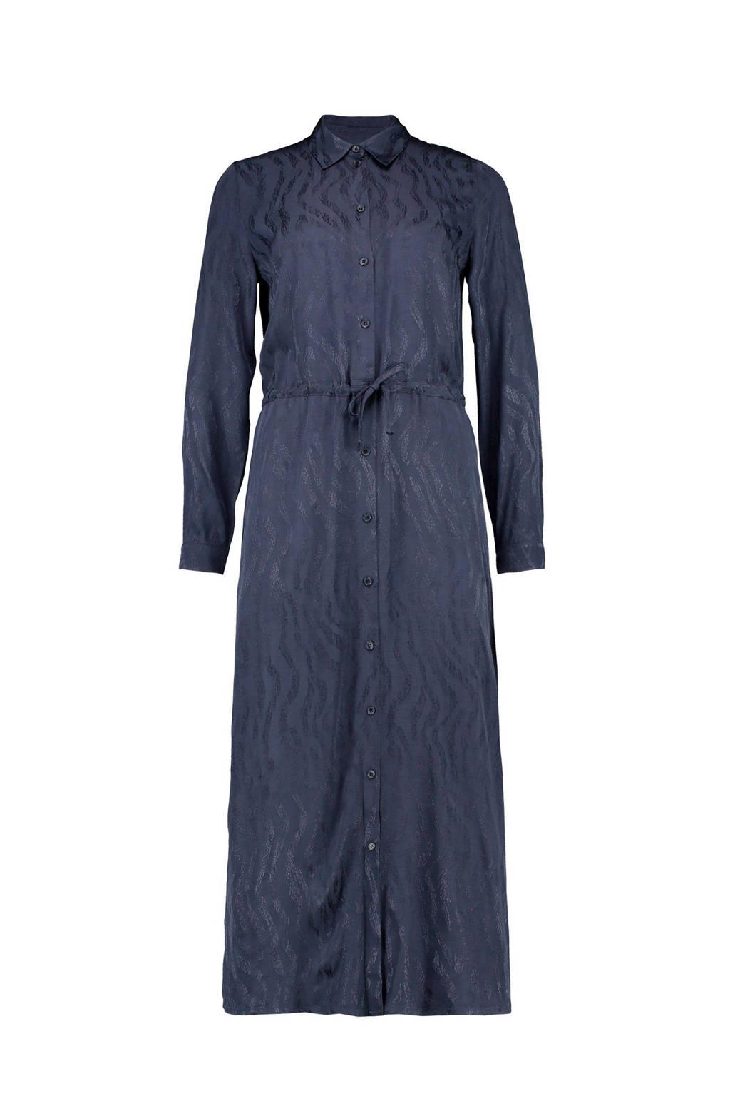 CKS blousejurk met all over print donkerblauw, Donkerblauw
