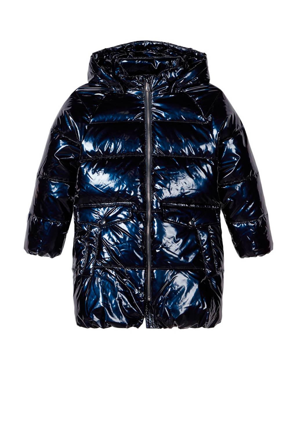NAME IT KIDS winterjas Mika zwart, Donkerblauw