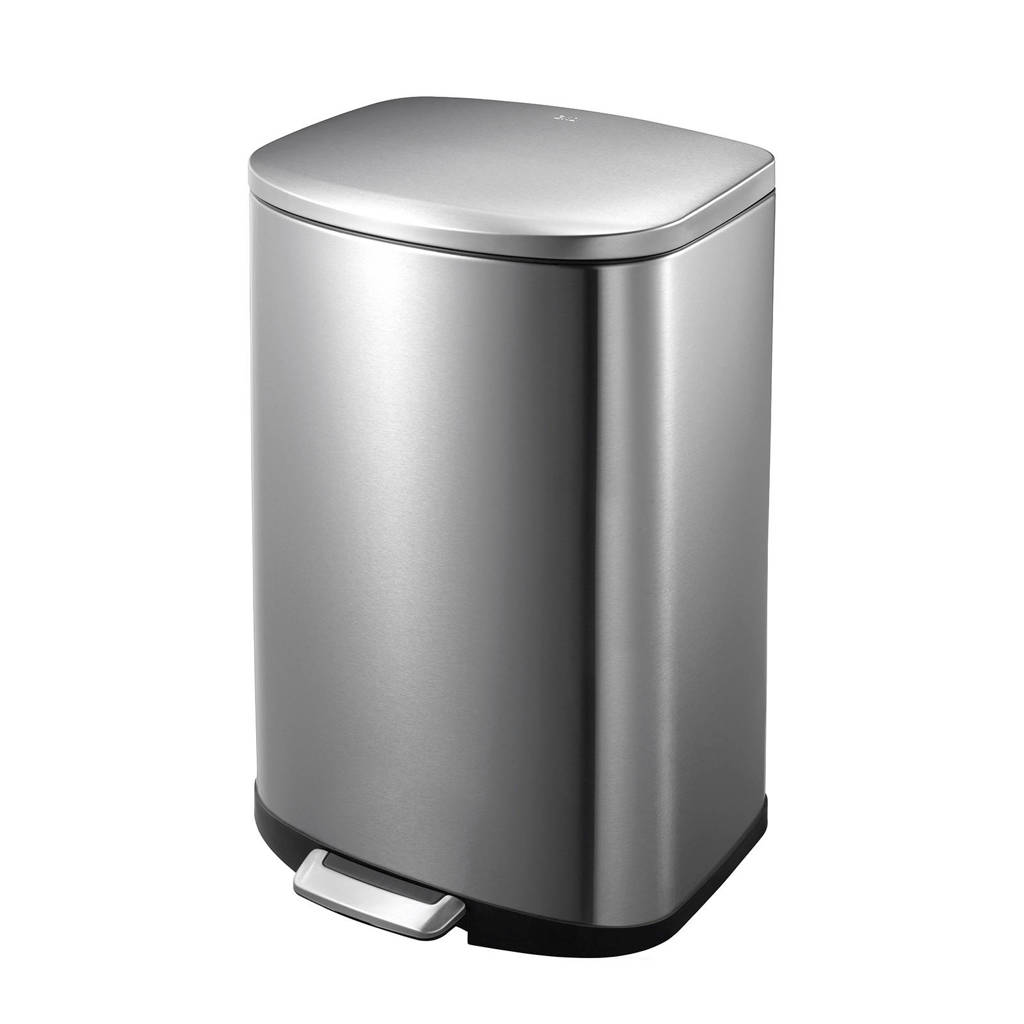 EKO Della 50 liter prullenbak, Mat rvs