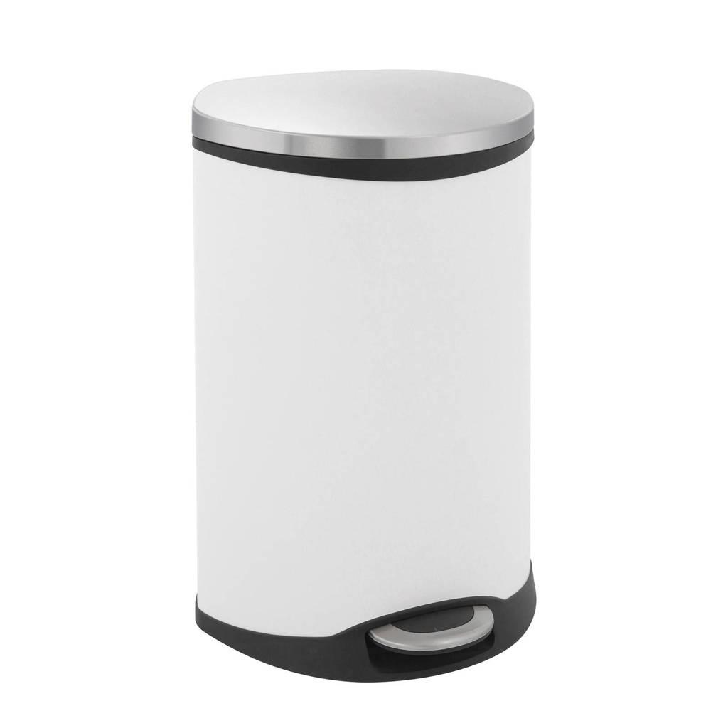 EKO Shell Bin 50 liter prullenbak, Wit