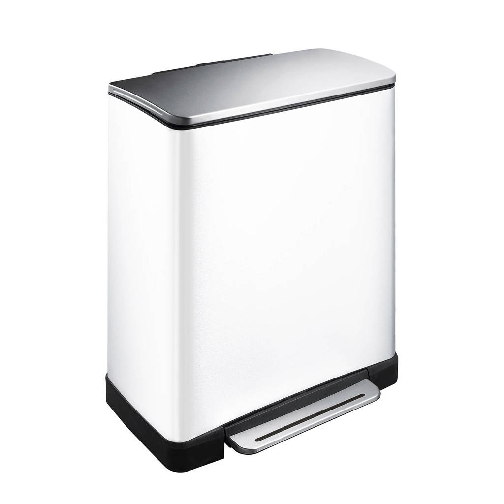 EKO E-Cube 18 + 28 liter pedaalemmer, Wit