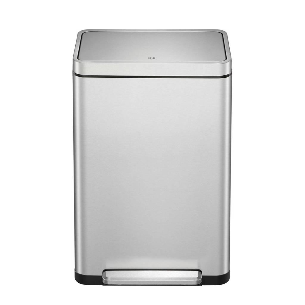 EKO X-Cube 40 liter prullenbak, Mat rvs