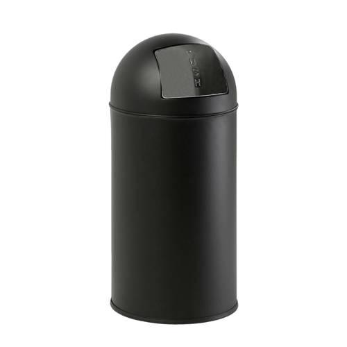 Pushcan 40 liter, Mat-Zwart