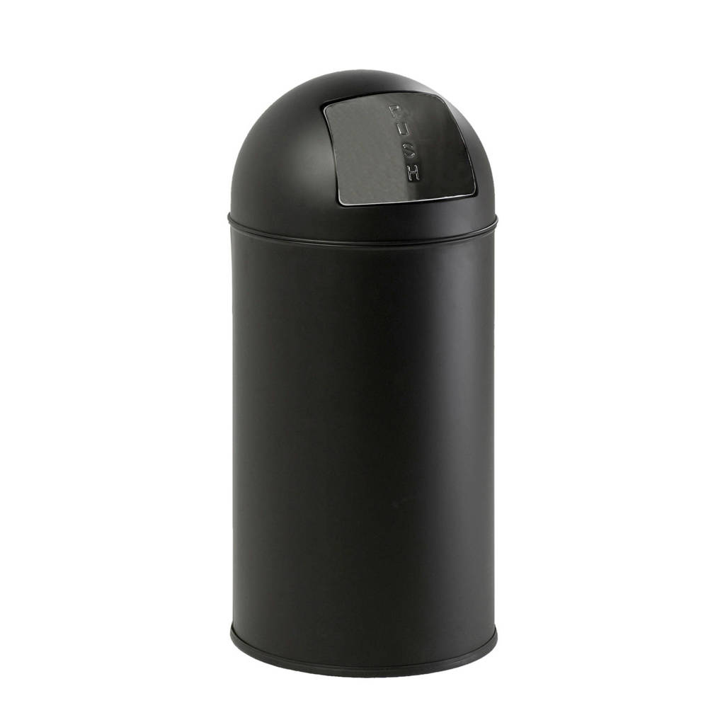 EKO  40 liter prullenbak, Mat zwart