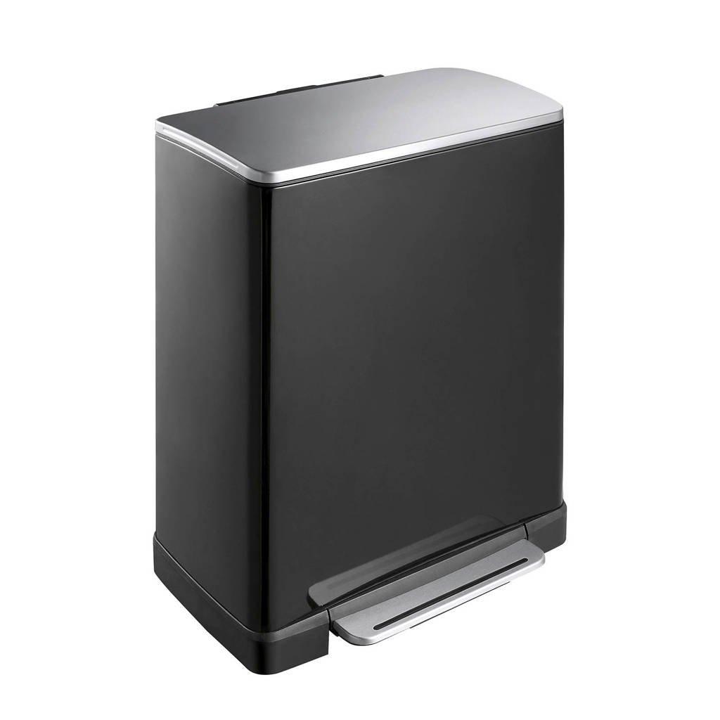 EKO E-Cube 50 liter pedaalemmer, Zwart