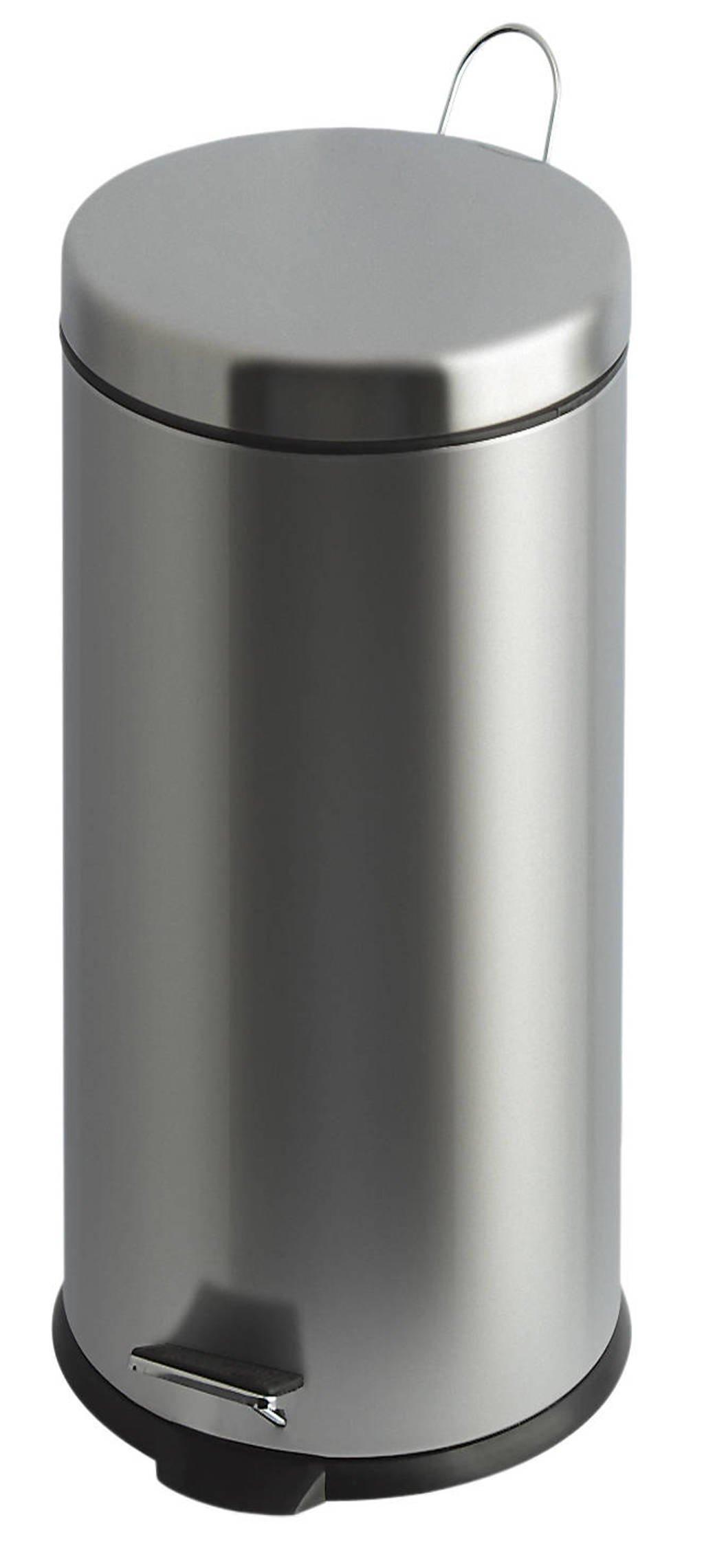 V-part  30 liter prullenbak, RVS