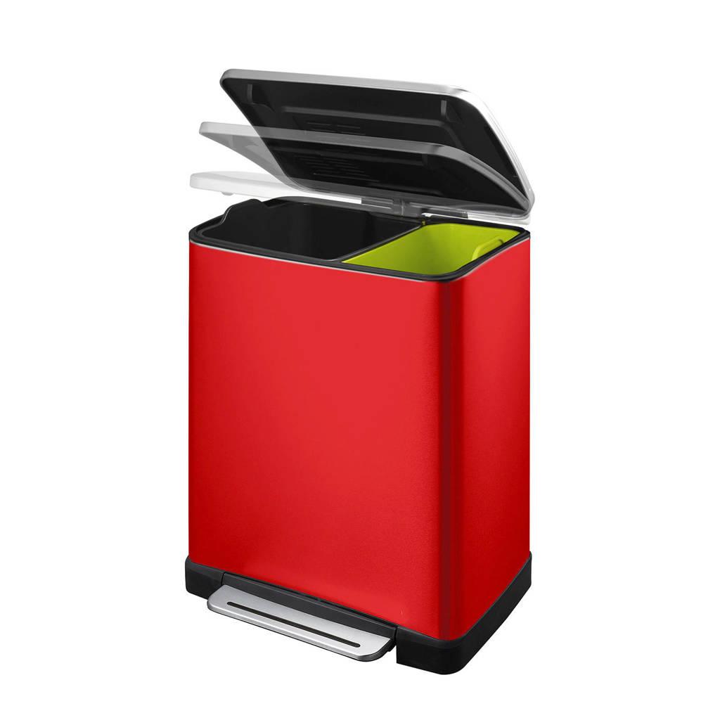 EKO E-Cube 18 + 28 liter pedaalemmer, Rood