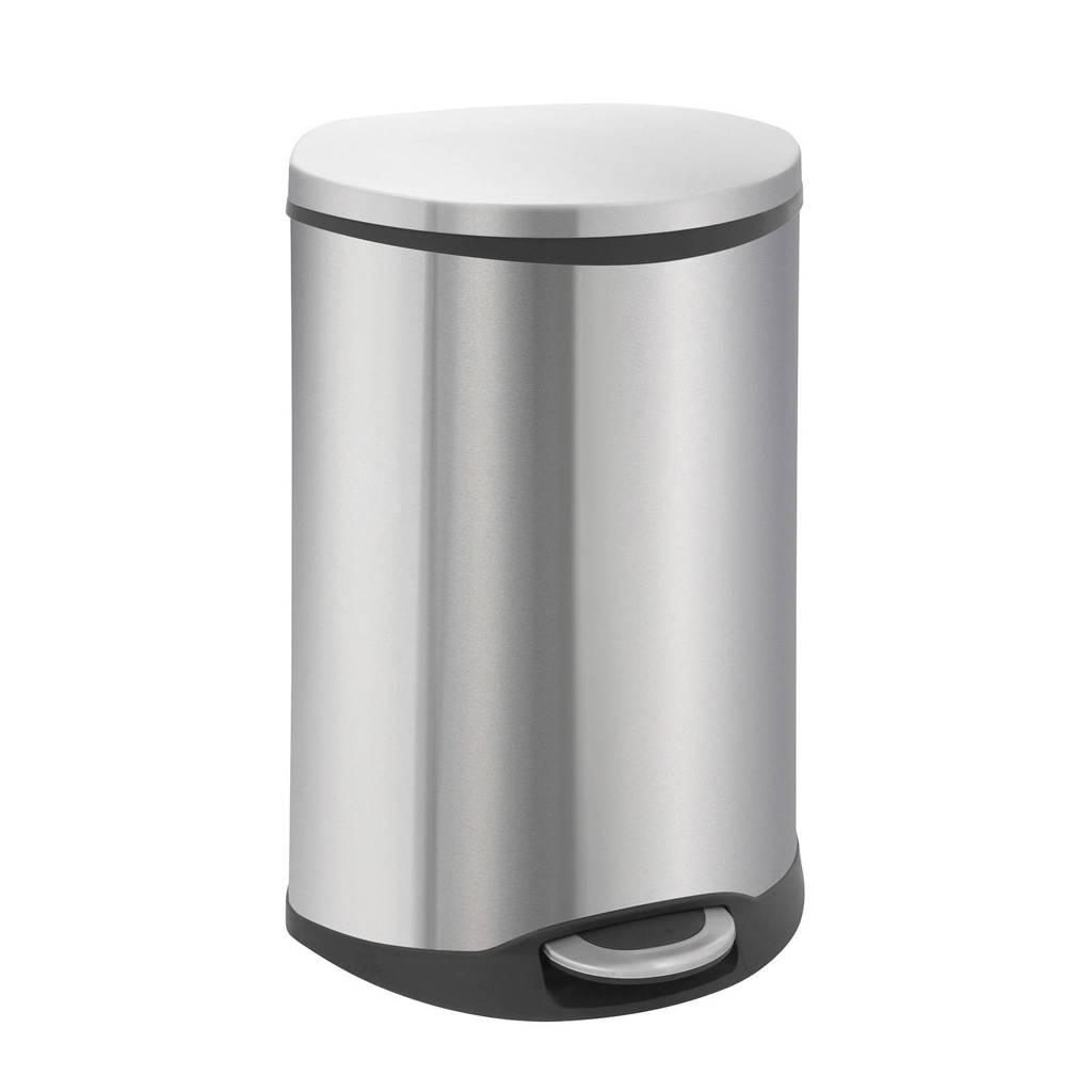 EKO Shell Bin 50 liter prullenbak, Mat rvs