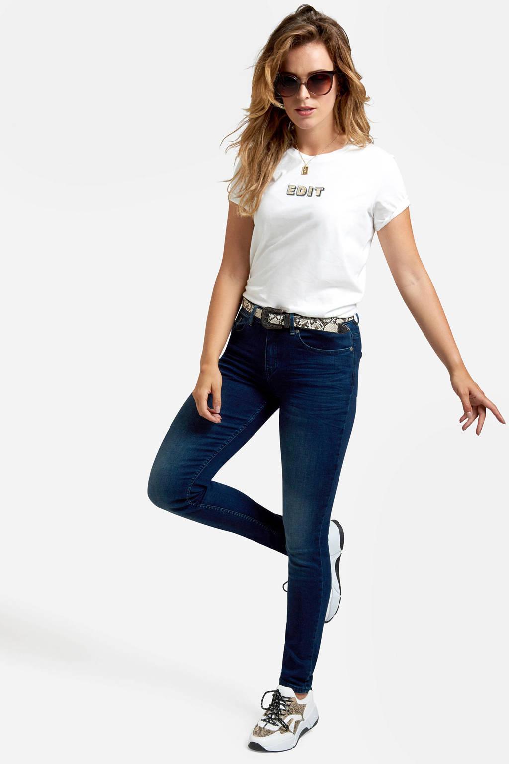 Eksept by Shoeby High waist skinny jeans blauw, Blauw